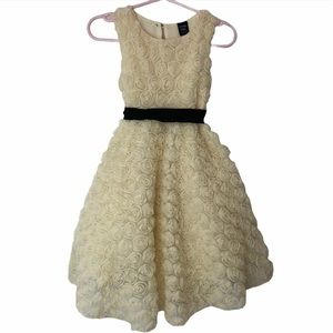 Gap- Ivory Mini Rosette Special Occasion Dress